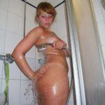 gros cul sous la douche
