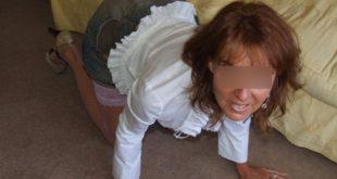 photo femme mature à 4 pattes