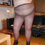 femme ronde en collants sexy